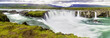 Leinwanddruck Bild - Godafoss, a beautiful waterfall