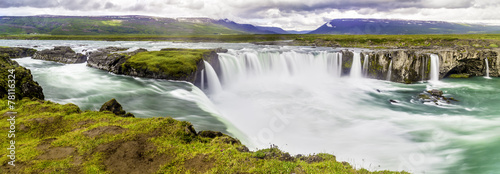Wall Murals Waterfalls Godafoss, a beautiful waterfall
