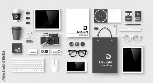 Set of corporate identity and branding. Vector - 78116526