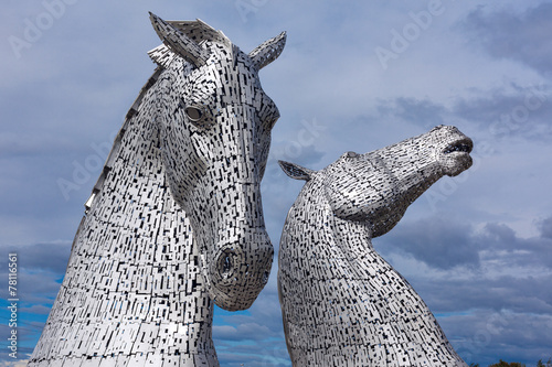 Plexiglas Artistiek mon. Sculptures The Kelpies at the Helix Park in Falkirk, Scotland