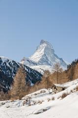 Zermatt, Dorf, Zum, Alpen, Wallis, Winterferien, Schweiz