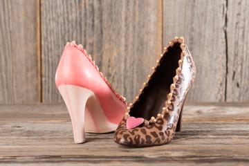 Highheel-Damenschuhe aus Schokolade