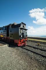 Alte Lokomotive, Harzbahn auf dem Brocken
