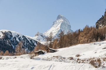 Zermatt, Bergdorf, Alpen, Wallis, Winterweg, Winter, Schweiz