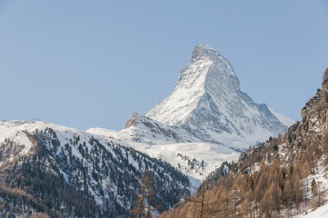 Zermatt, Dorf, Alpen, Zmutt, Wanderweg, Winter, Schweiz