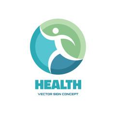 Health - vector logo. Human vector logo.