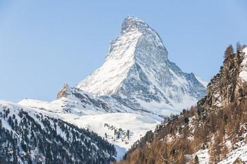 Zermatt, Dorf, Alpen, Trockener Steg, Wallis, Winter, Schweiz