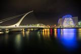 Samuel Beckett bridge in Dublin, Ireland at night - 78119530