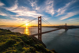 Golden Gate Bridge in San Francisco sunrise