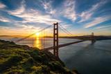 Golden Gate Bridge in San Francisco sunrise