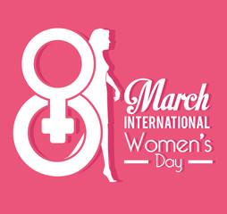 Womens day card design, vector illustration.