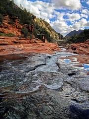 Natural Water Slide at Slide Rock State Park, Sedona, Arizona
