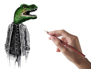 designer and dinosaur gentleman