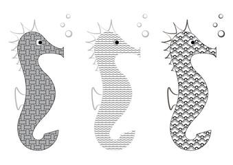 Animal marin - Hippocampe déco