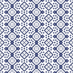 Seamless geometric pattern in blue spectrum