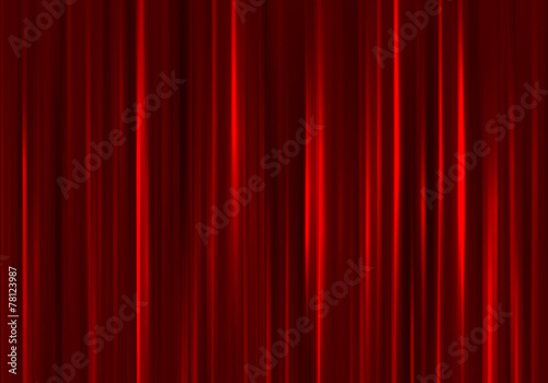 Tuinposter Stof Red curtain