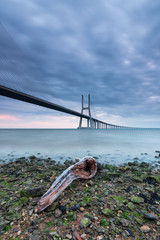 Pura arte com a Ponte Vasco da Gama