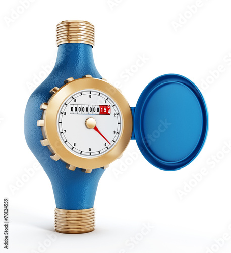 Leinwandbild Motiv Water meter