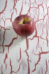 Red Apple, on grunge background