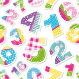cute colorful numbers pattern