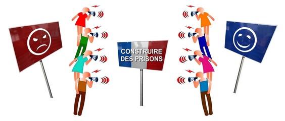 """Débat français """"Construire des prisons pour ou contre"""""""