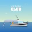 Sea marlin fishing on the boat - 78126157