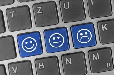 Kundenbewertung online - Tasten