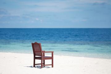 Пляж стул остров песок море