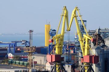 Odessa sea port container terminal ,Ukraine,important hub