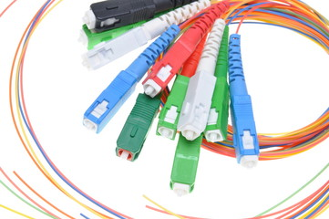 Fiber optic connectors and cables