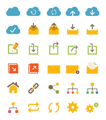 Share and Network Icons
