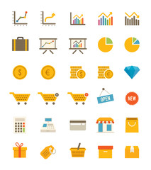 Shop And Finance Icons