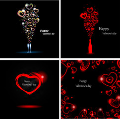 Set abstract backgrounds for the day Valentine
