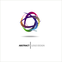 Abstract colorful circle. Logo template