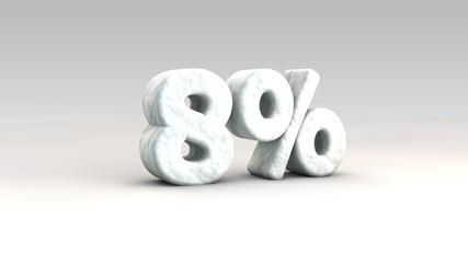 8% ice