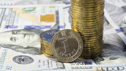 Rising of exchange rate of Ukrainian hryvnia for dollar USA