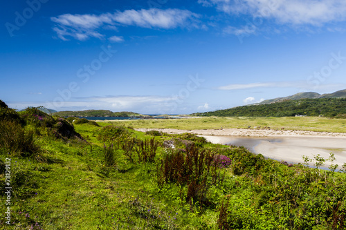 canvas print picture Derrynane Bay im County Kerry, Irland