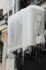 air conditioning icicles