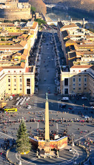panorama of Rome seen from the dome of San Pietro- Italy