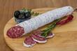 Obrazy na płótnie, fototapety, zdjęcia, fotoobrazy drukowane : Fuet sausage