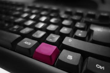 Tastatur Hintergrund neutral Taste Magenta