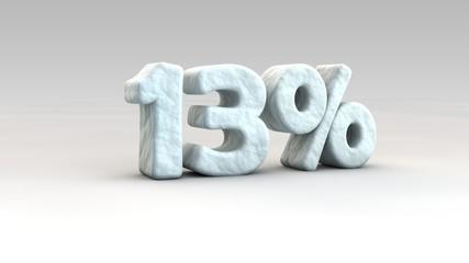 13% ice