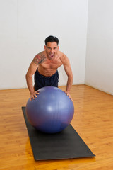 Extra effort for stability ball push-ups