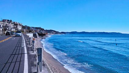 鎌倉の137号線と海岸