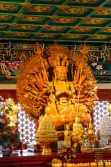 NONTHABURI-THAILAND -December 27 : Wooden Guan Yin sculpture, ho