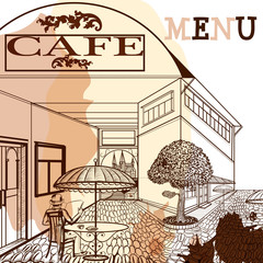 Coffee menu design for cafe