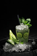 mojito made with cucumber