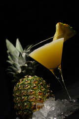 cocktail made with pineapple