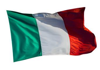 Flag of Italy over white