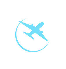 Airplane symbol isolated on white background